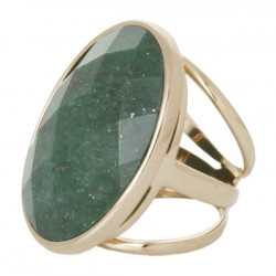 Anel Oval Verde
