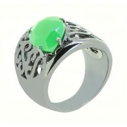 Anel Ródio Negro e Verde