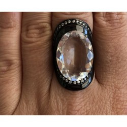 Anel Cristal Oval