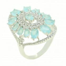 Anel Pedras Azuis