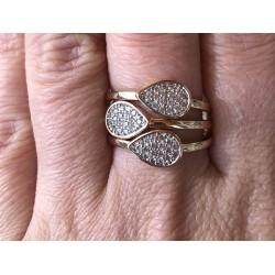 Trio de Anéis com Zircônias
