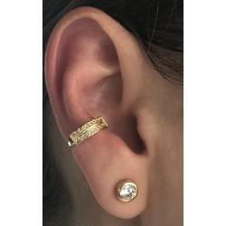 Piercing Dourado e Zircônias