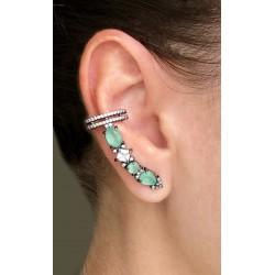 Brinco Ear Cuff Verde