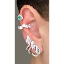 Brinco Ear Cuff Zircônias
