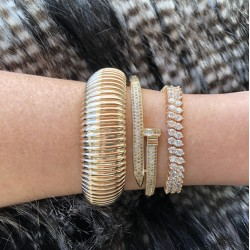 Bracelete Dourado Parafuso