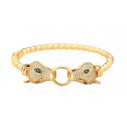 Bracelete Dourado Leopardo