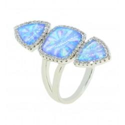 Anel Opala Azul