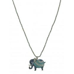 Colar Elefante Azul