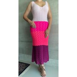 Vestido Tricot Midi Rosa
