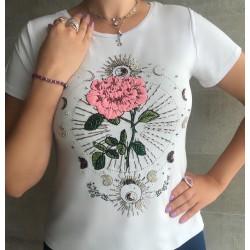 Camiseta Rosa e Luas