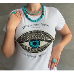 Camiseta Branca Olho Grego
