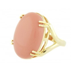 Anel Oval Coral